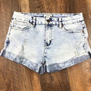 Forever 21 Distressed Acid Wash Jean Shorts Sz 27